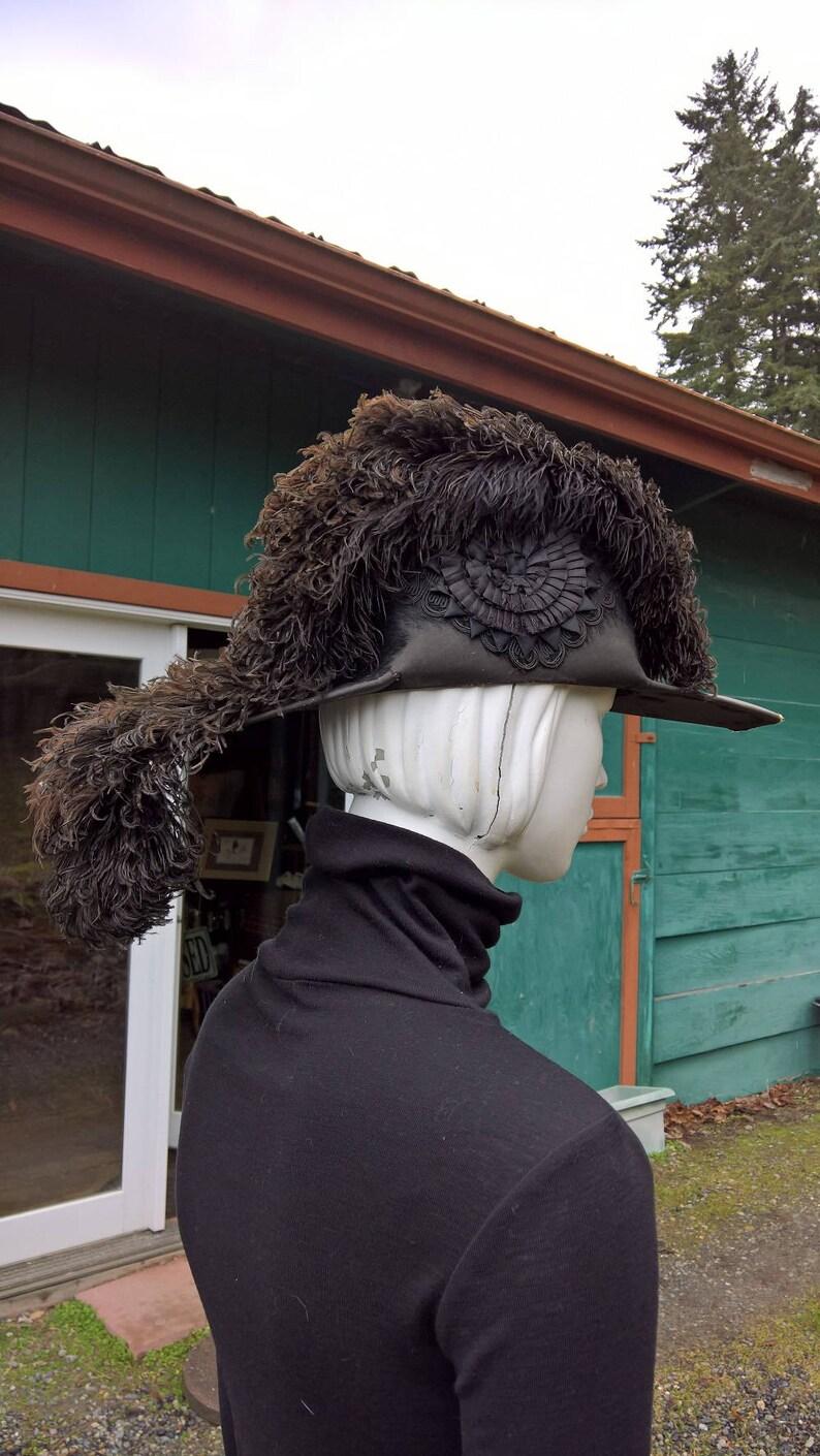 Vintage Egret Feather Masonic Regalia Hat