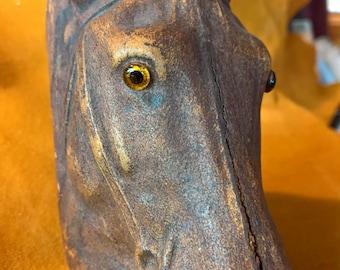Vintage Syroco Wood Horse Head Desk Accessory