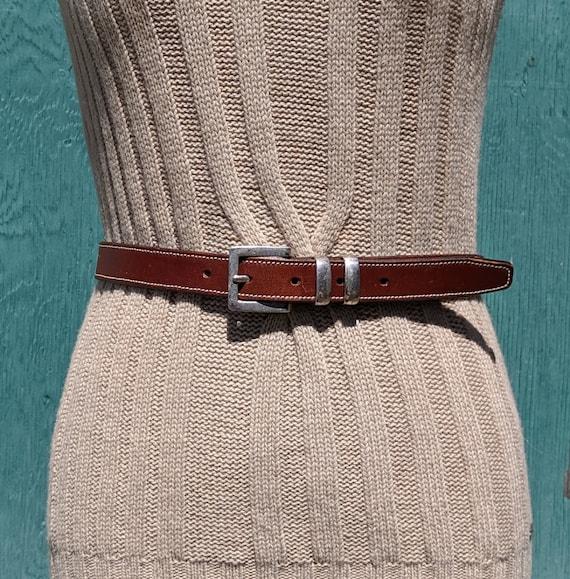 Vintage Belt Stitched Harness Leather – 1980s