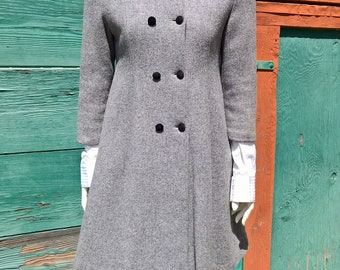 Vintage Country Couture Wool Princess Coat