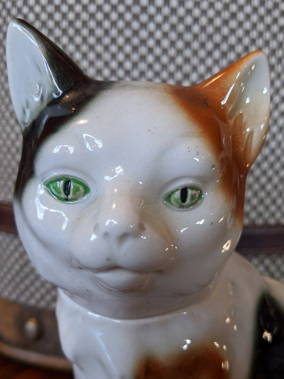 Vintage Decanter Calico Kitty Porcelain – 1930s