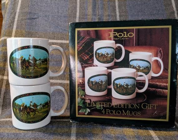 Vintage Mug Set Ralph Lauren Polo Gift Boxed