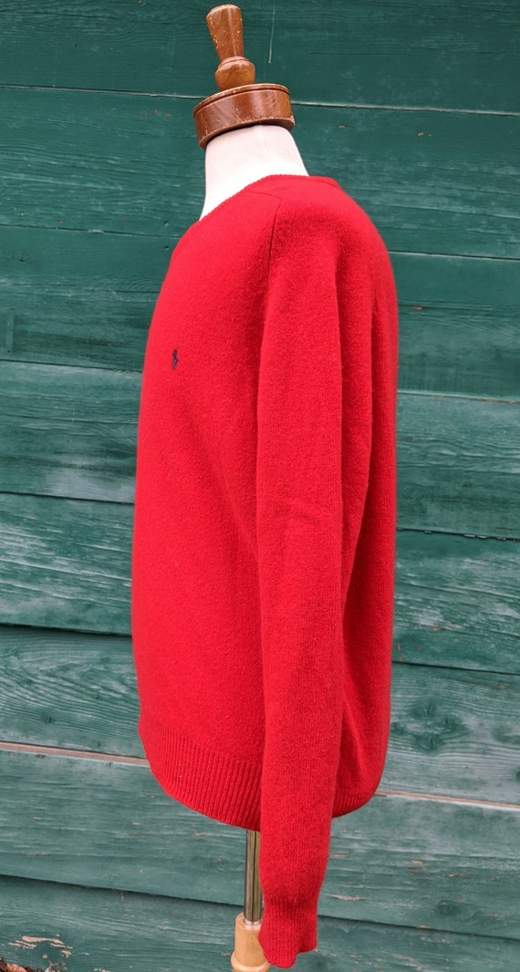 Vintage Men's Ralph Lauren Lambswool Polo Pullove… - image 3
