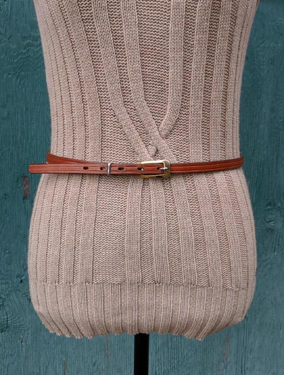 Vintage Belt Chambers Leather Skinny