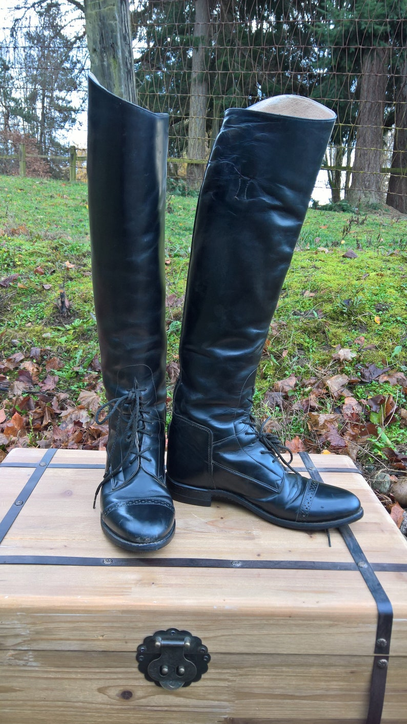 23b76176016f3 Vintage Riding Boots Tall Field by Bond Boot Co, Effingham