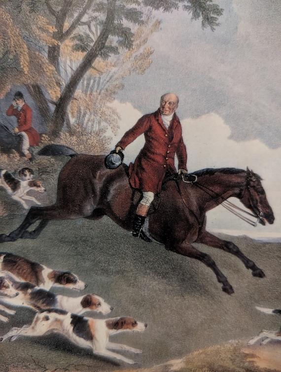 "Vintage Art Print ""Hunt of John Shirley"" Framed R.B. Davis"