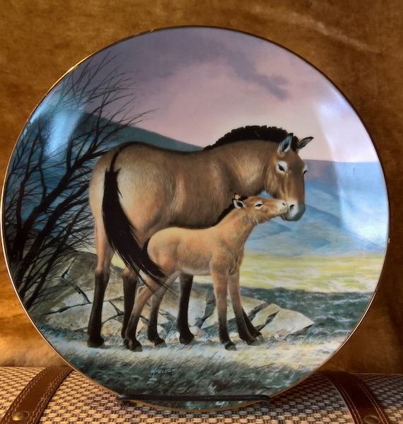 Vintage Horse Plate Limited Edition Przewalski's Collectible