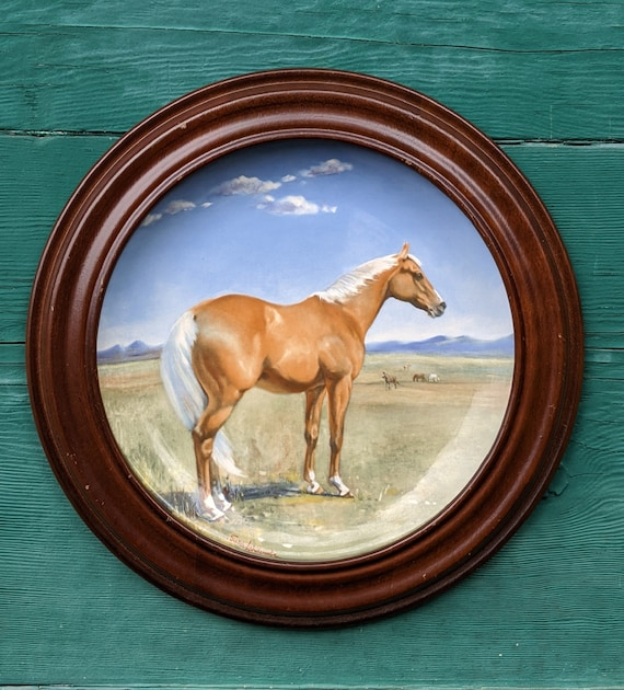 Vintage Collector's Plate The American Quarter Horse, Spode – 1988