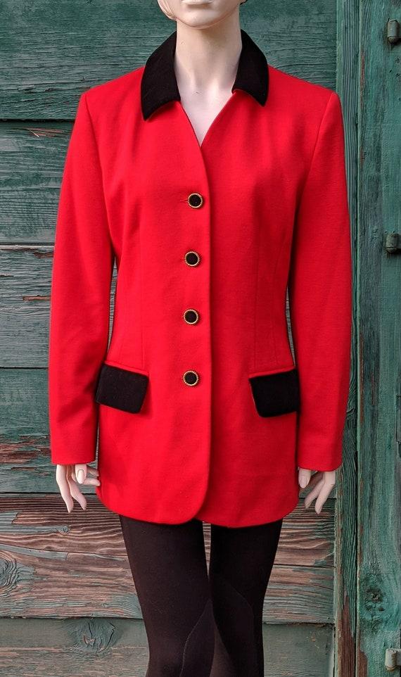Vintage Blazer Hunt Club Red with Black Velvet Ole