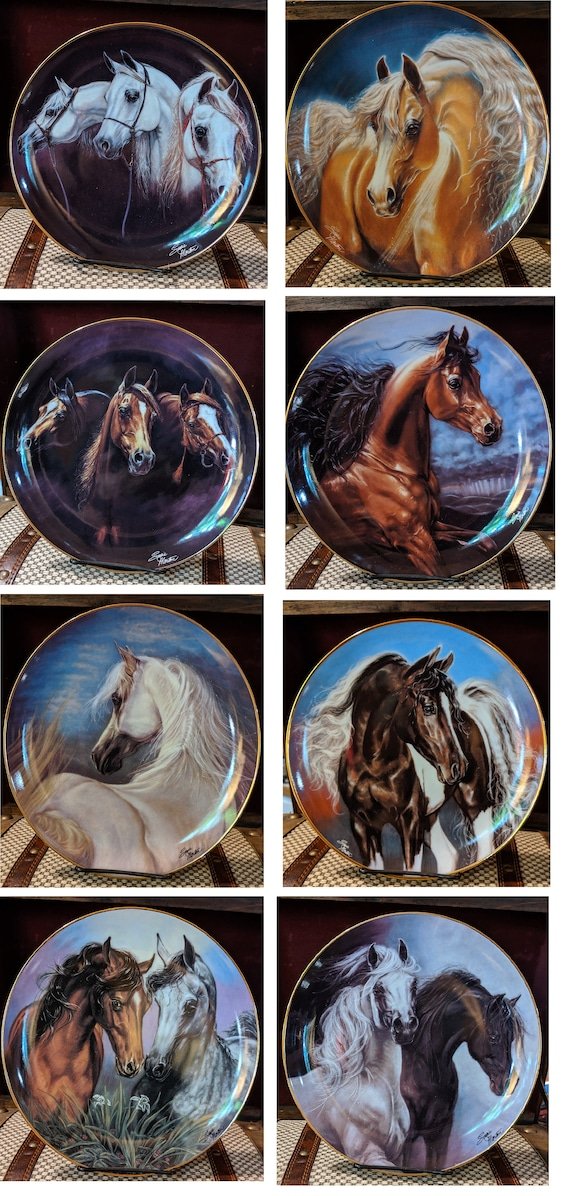 Vintage Plates Noble and Free Complete Set 1993 Susie Morton