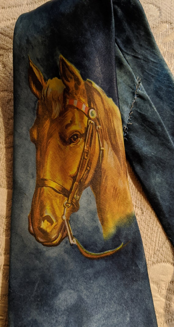 Vintage Tie Golden Saddle Horse Master Prints – 19