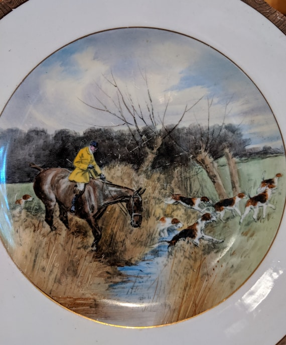 "Vintage W.T. Copeland ""Going To Halloa"" Plate No 3 Lionel Edwards"