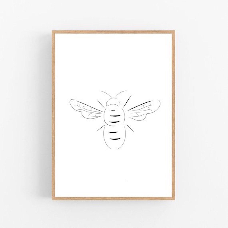 Z364 Wall Vinyl Sticker Bedroom Design Hornet Bumble Bee