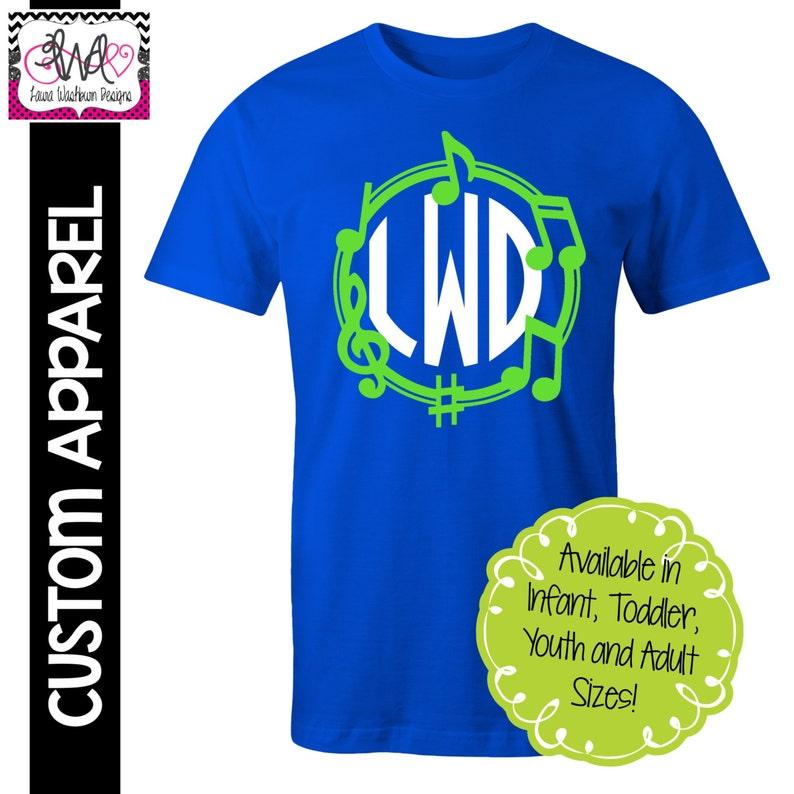 f1a5cfaec8722 CUSTOM APPAREL: Custom Music/Band Theme with Monogram T-Shirt