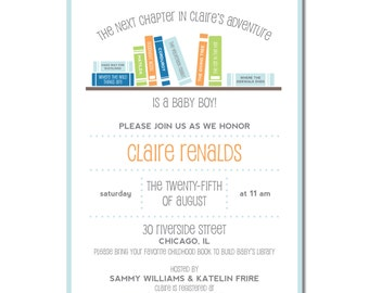 Book baby shower invitation book theme baby shower invite book theme baby shower invitation books books books in lieu of cards bring a book shower invitation reading baby shower filmwisefo