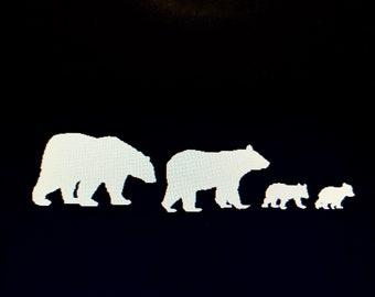 Black Bear Family Decal  Vinyl Car Window Pet Vinyl Decal Sticker Original Design