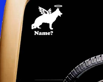 Dog Memorial German Shepherd #1 Angel Halo Decal Sticker Original Design RV Truck Vinyl