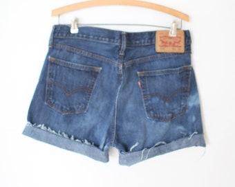 Vintage 1980s Cutoffs Soft Denim Jean Shorts