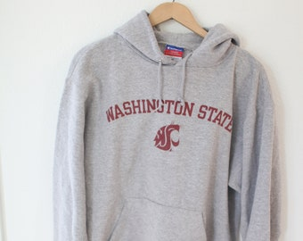 f92d57d9 vintage washington state university WSU champion heather gray sweatshirt  hoodie #0631