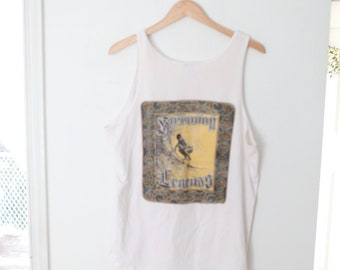 Surf Mania 80/'s Tank Top Epic Surf Mania Large Tag.