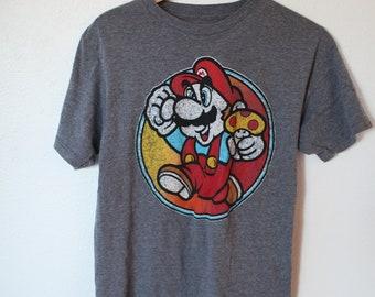 935df04d0 vintage super mario bros nintendo gray t shirt  687