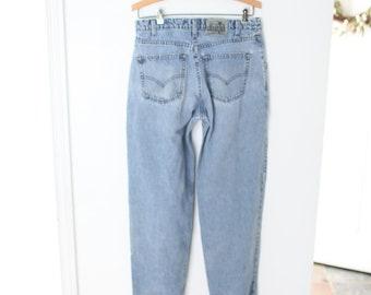 W30 L34 Vintage Levi/'s Silvertab Tapered Jeans Pale Blue