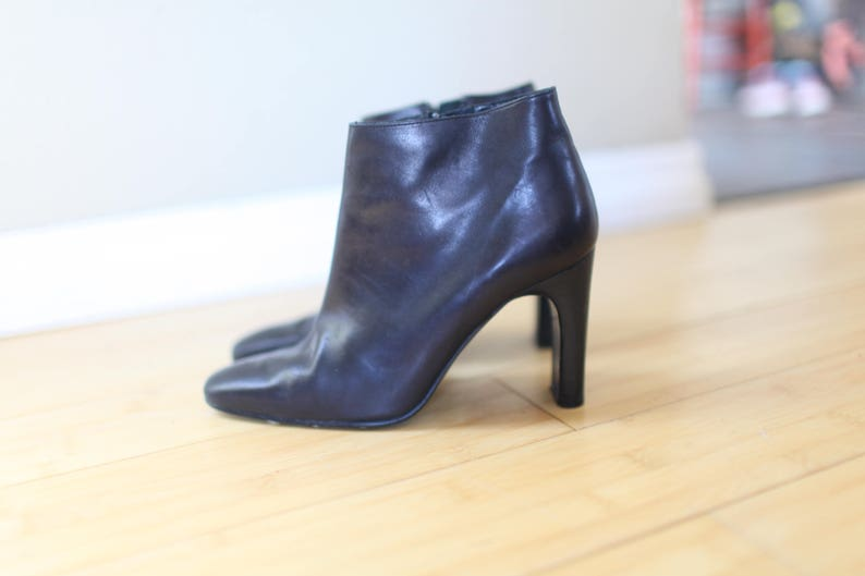 4b33107a6700 Vintage calvin klein black leather oxford ankle boots womens