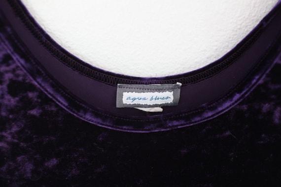 vintage 90s purple velvet maxi gown dress #0356 - image 3