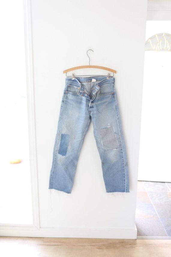 vintage distressed  levis 501  jeans denim 32  #06