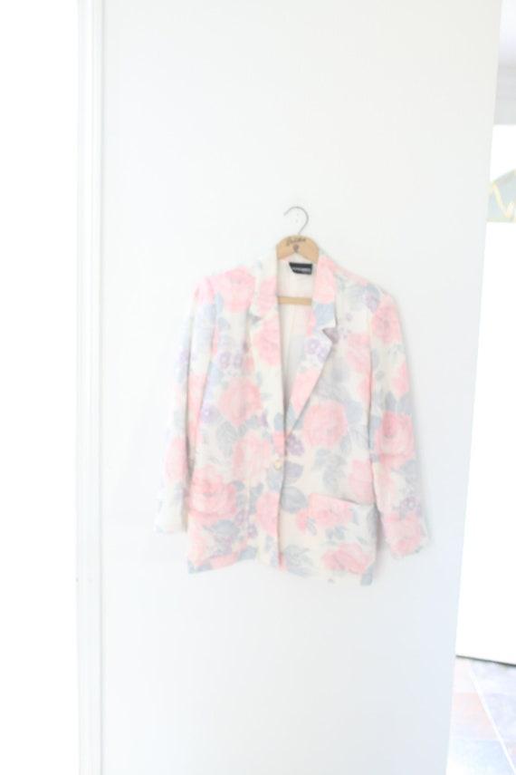 vintage oversized floral blazer jacket #097
