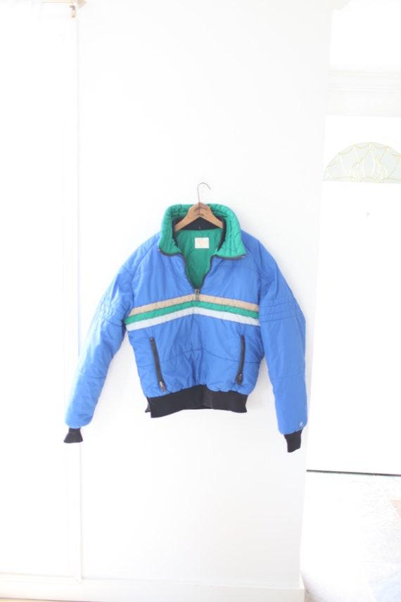vintage 80s Roffe blue green stripe bivy puffer ja