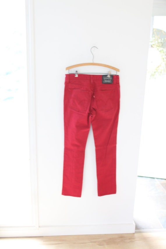 vintage levis 510 red jeans denim 32 x 30 #0148