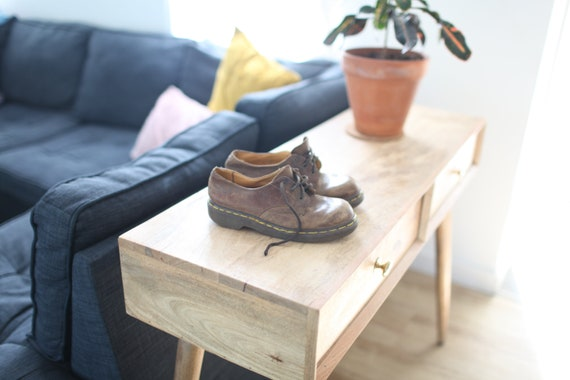 vintage dr martens brown leather chunky oxfords wo