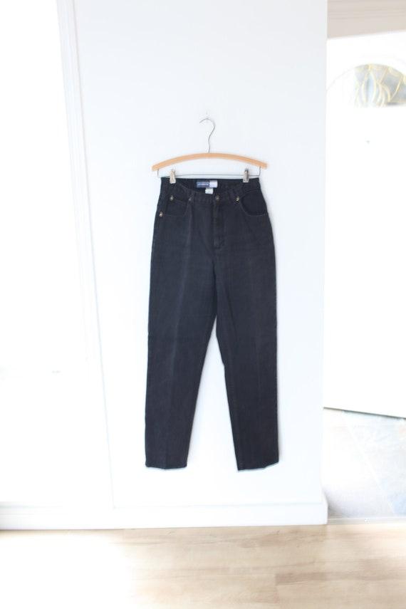vintage liz claiborne high rise waist black mom  j