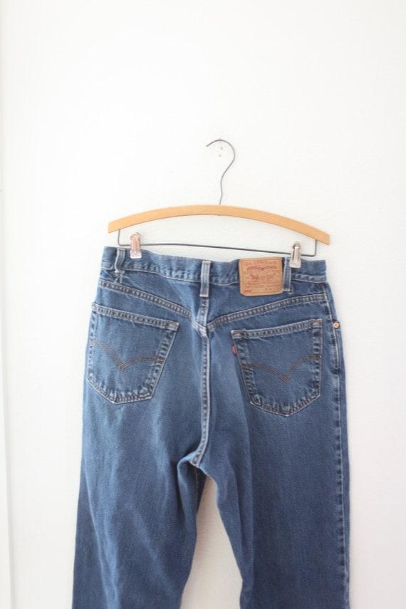 vintage 1990's  distressed levis 550  jeans denim… - image 4