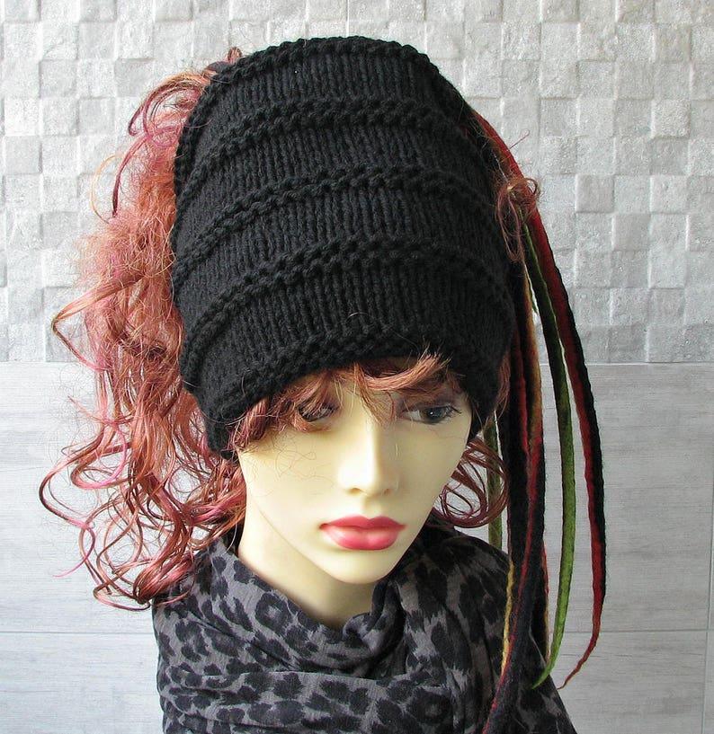 3915f20dd48b4 Dreadlock headband wide knit head wraps for locs dreads tube