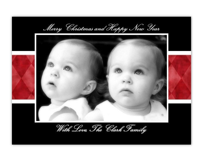 Custom Christmas Card, Holiday Photo Card, New Year's Photo Card, custom for YOU - 5x7 or 4x6 size or YOUR custom size