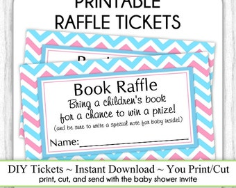 book raffle ticket etsy