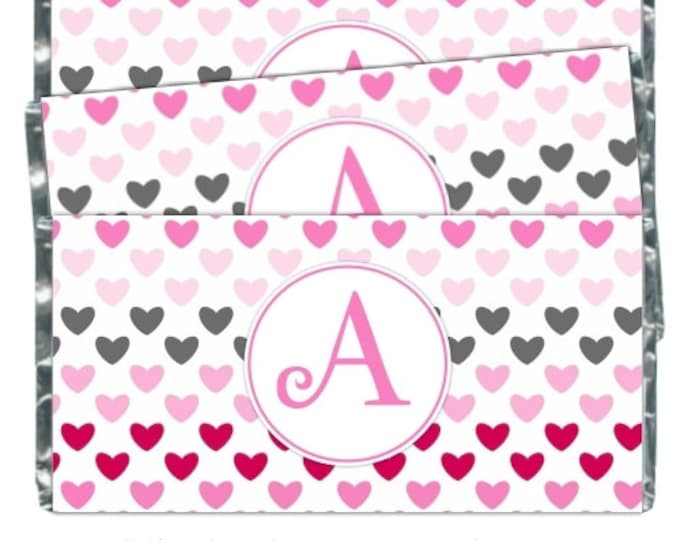 Printable Wedding Candy Wrappers, fit over chocolate bars - CUSTOM design for you - bridal shower, wedding shower, YOU PRINT