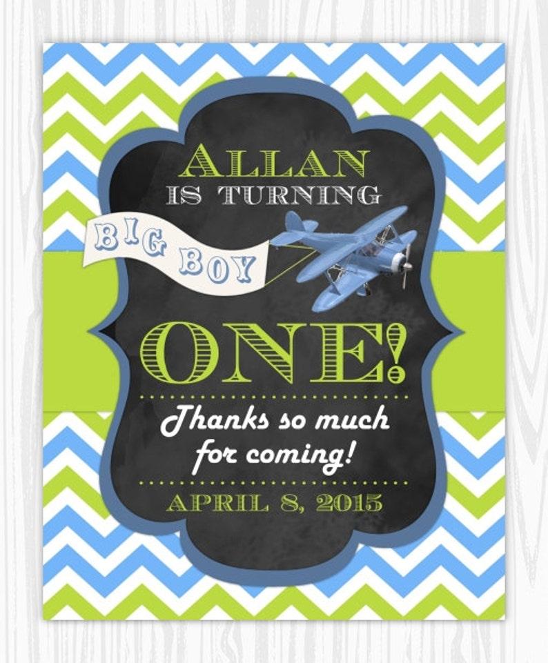 Airplane Birthday Sign 1st Birthday Chalkboard Printable Sign Custom 1st Birthday Sign YOU print 8x10 Chalkboard Birthday Sign