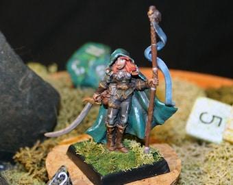 Painted Metal Miniature - Druid, Ranger, Warden, Fighter