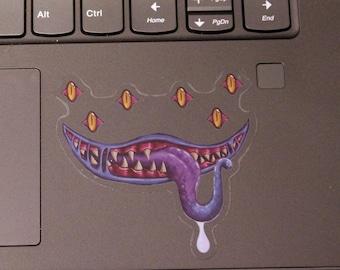 Totally not a Mimic - Clear Vinyl Sticker - D&D Monster Sticker