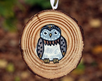 Cute Owl Ornament - Hand Painted