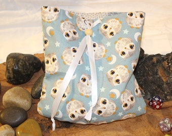 Owls Hoot! - Bag of Holding - Reversable DIce Pouch - Free d20