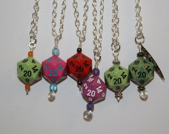 Polyhedral Dice Necklace - D20