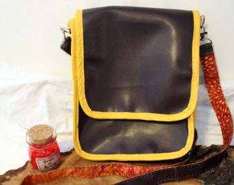 Handmade Satchel Bag - Faux Leather