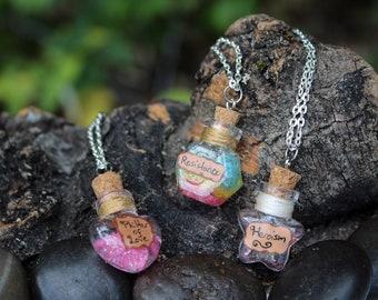 Potion Bottle Charm Necklace