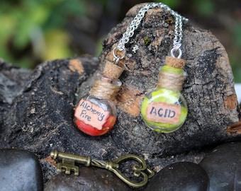 Alchemist Bottle Charm Necklace
