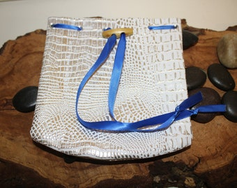 White Dragon Pouch - Dice Bag of Holding - Free D20