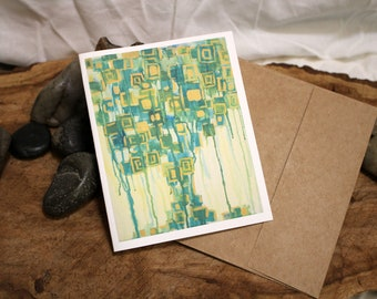 Tree Card- Painting Reproduction - Made in Vermont - Single Card or 4 Pack